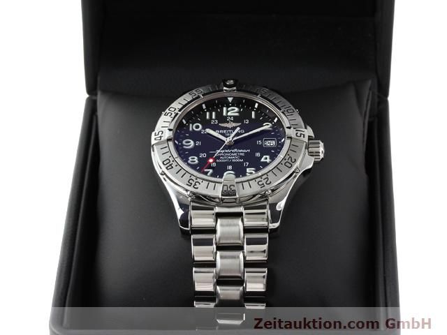 Used luxury watch Breitling Superocean steel automatic Ref. A17360  | 140227 07