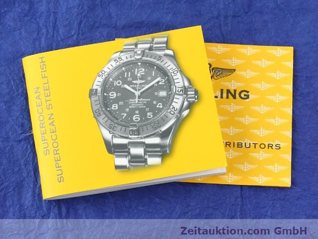 Used luxury watch Breitling Superocean steel automatic Ref. A17360  | 140227 13