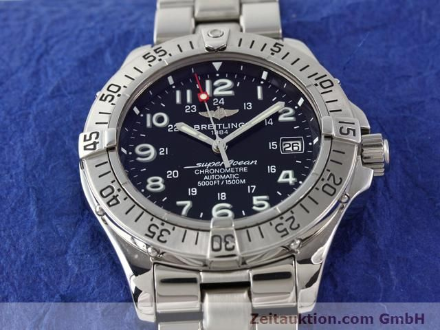 Used luxury watch Breitling Superocean steel automatic Ref. A17360  | 140227 18
