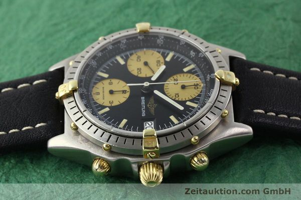 Used luxury watch Breitling Chronomat chronograph gilt steel automatic Kal. VAL 7750 Ref. 81950A  | 140234 05