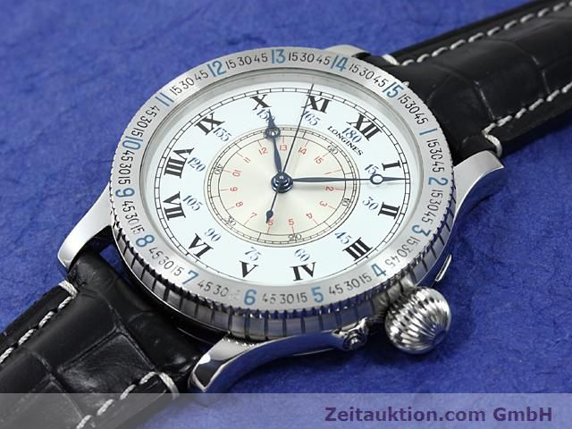 Used luxury watch Longines Lindbergh Stundenwinkel steel manual winding Kal. L 878.4 Ref. 876.5238  | 140236 01