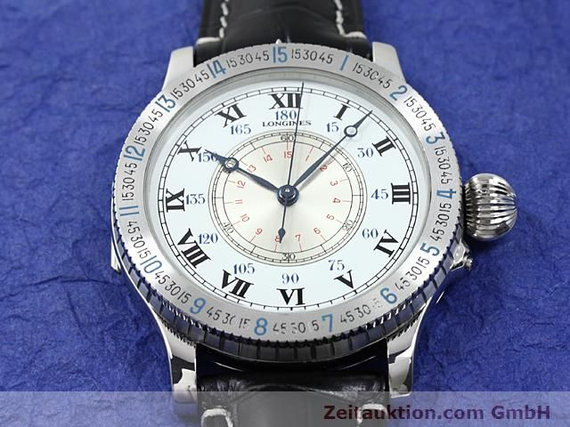 Used luxury watch Longines Lindbergh Stundenwinkel steel manual winding Kal. L 878.4 Ref. 876.5238  | 140236 15