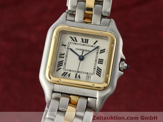 Used luxury watch Cartier Panthere steel / gold quartz Kal. 2.89  | 140243 04