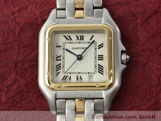 Used luxury watch Cartier Panthere steel / gold quartz Kal. 2.89  | 140243 12