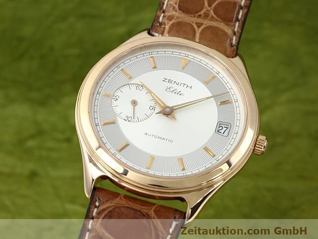 montre de luxe d occasion Zenith Elite or rouge 18 ct automatique Kal. 680 Ref. 170040680  | 140257 04