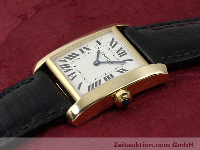 Used luxury watch Cartier Tank 18 ct gold quartz Kal. 157.06  | 140268 01