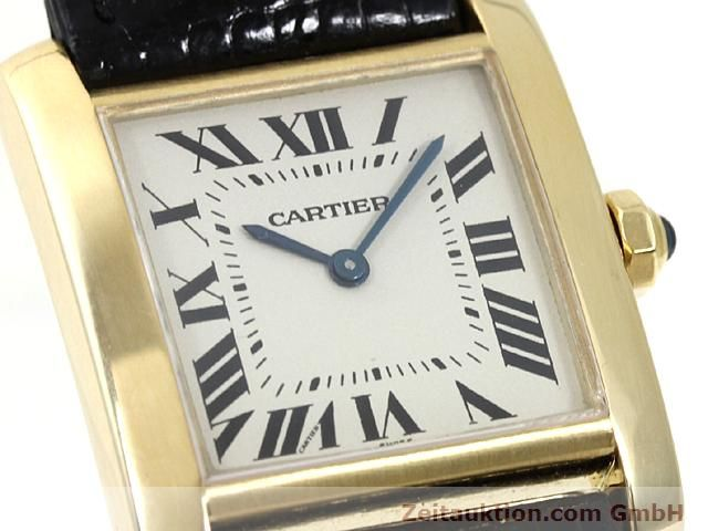 Used luxury watch Cartier Tank 18 ct gold quartz Kal. 157.06  | 140268 02
