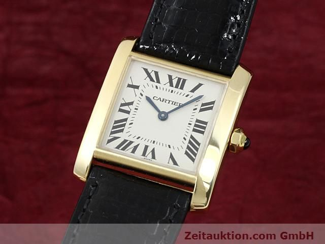Used luxury watch Cartier Tank 18 ct gold quartz Kal. 157.06  | 140268 04
