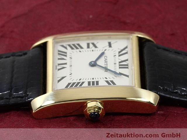 Used luxury watch Cartier Tank 18 ct gold quartz Kal. 157.06  | 140268 05