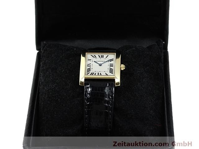 Used luxury watch Cartier Tank 18 ct gold quartz Kal. 157.06  | 140268 07