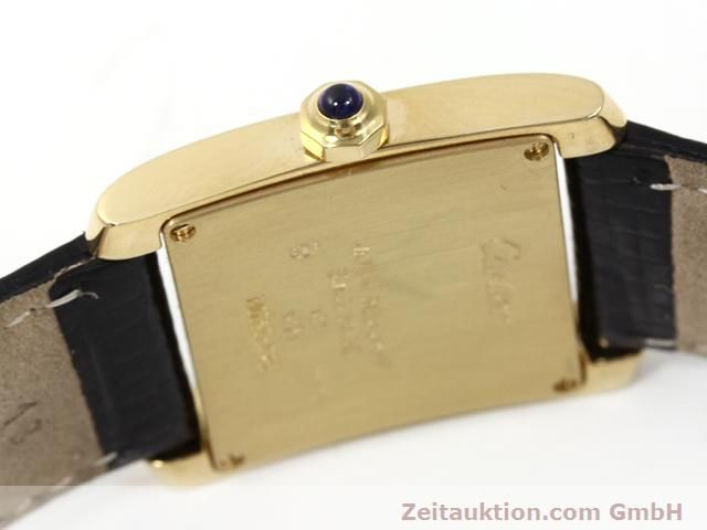 Used luxury watch Cartier Tank 18 ct gold quartz Kal. 157.06  | 140268 08