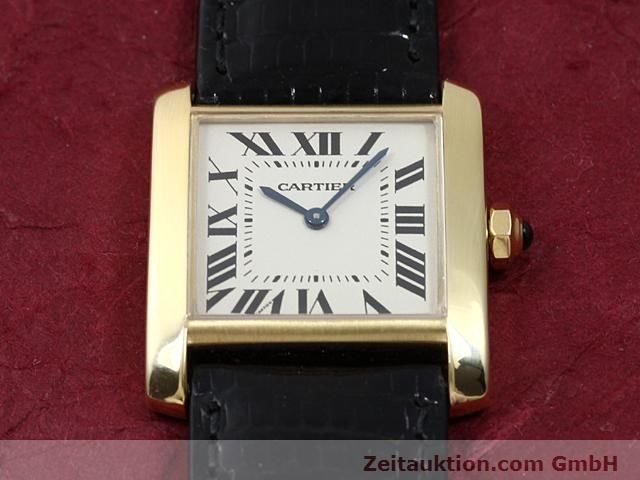 Used luxury watch Cartier Tank 18 ct gold quartz Kal. 157.06  | 140268 14