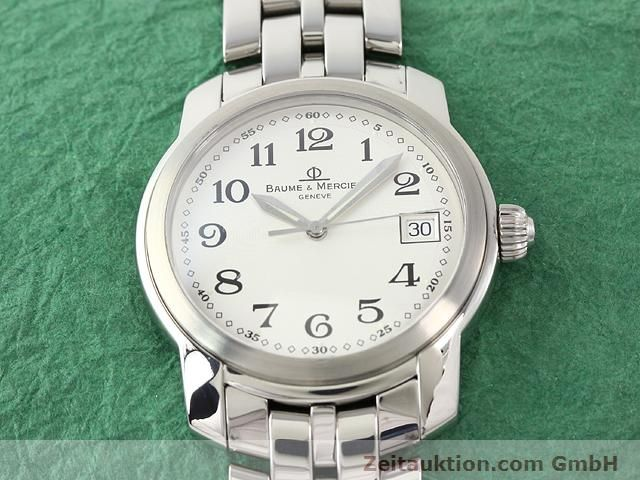 Used luxury watch Baume & Mercier Capeland steel quartz Kal. 11425 (ETA 955112) Ref. MV045214  | 140270 16