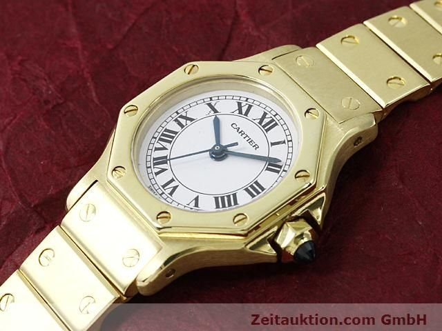 montre de luxe d occasion Cartier Santos or 18 ct automatique Kal. ETA 2671  | 140281 01