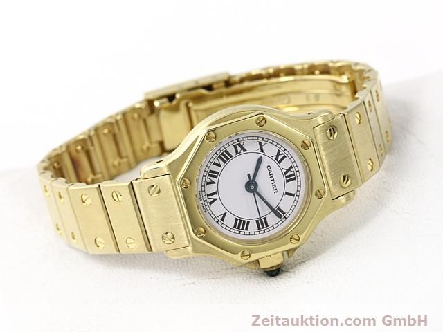 montre de luxe d occasion Cartier Santos or 18 ct automatique Kal. ETA 2671  | 140281 03