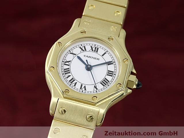 montre de luxe d occasion Cartier Santos or 18 ct automatique Kal. ETA 2671  | 140281 04