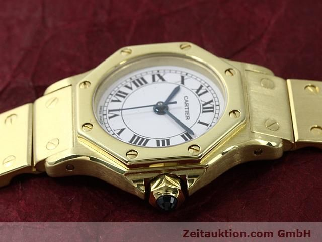 montre de luxe d occasion Cartier Santos or 18 ct automatique Kal. ETA 2671  | 140281 05