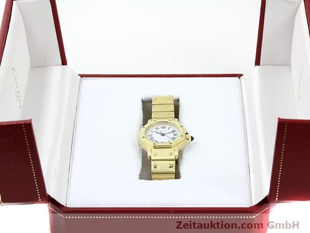 montre de luxe d occasion Cartier Santos or 18 ct automatique Kal. ETA 2671  | 140281 07