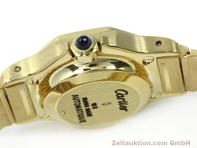 montre de luxe d occasion Cartier Santos or 18 ct automatique Kal. ETA 2671  | 140281 08