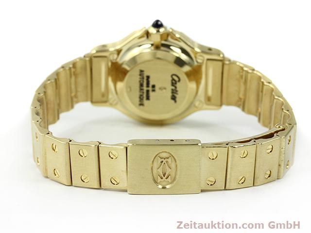 montre de luxe d occasion Cartier Santos or 18 ct automatique Kal. ETA 2671  | 140281 10