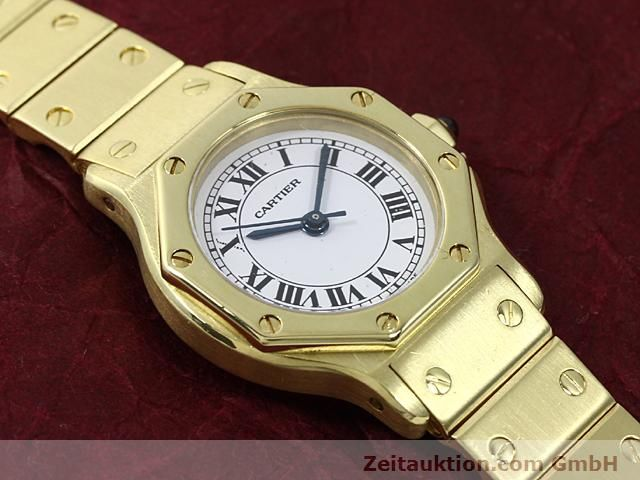 montre de luxe d occasion Cartier Santos or 18 ct automatique Kal. ETA 2671  | 140281 12