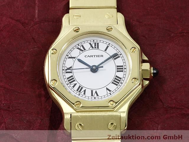 montre de luxe d occasion Cartier Santos or 18 ct automatique Kal. ETA 2671  | 140281 13
