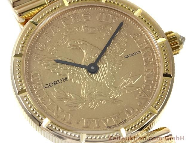 Used luxury watch Corum * 18 ct gold quartz Kal. ETA 959001 Ref. 370781  | 140298 02