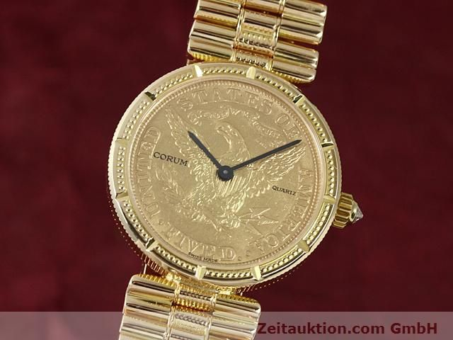 Used luxury watch Corum * 18 ct gold quartz Kal. ETA 959001 Ref. 370781  | 140298 04