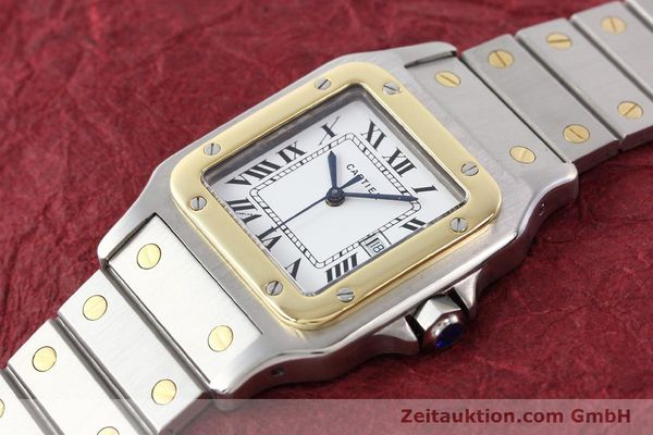 Used luxury watch Cartier Santos steel / gold automatic Kal. ETA 2671  | 140309 01