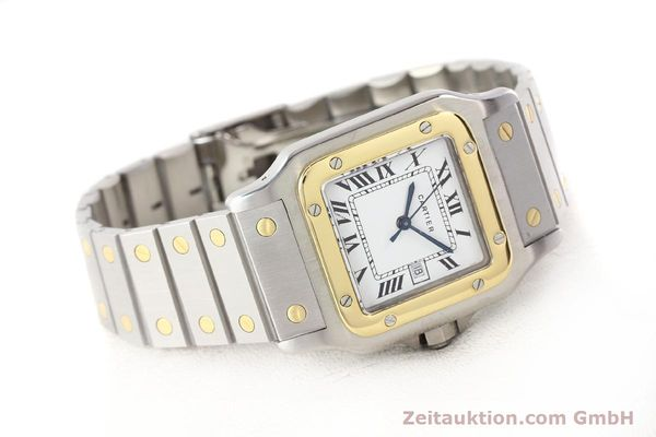 Used luxury watch Cartier Santos steel / gold automatic Kal. ETA 2671  | 140309 03