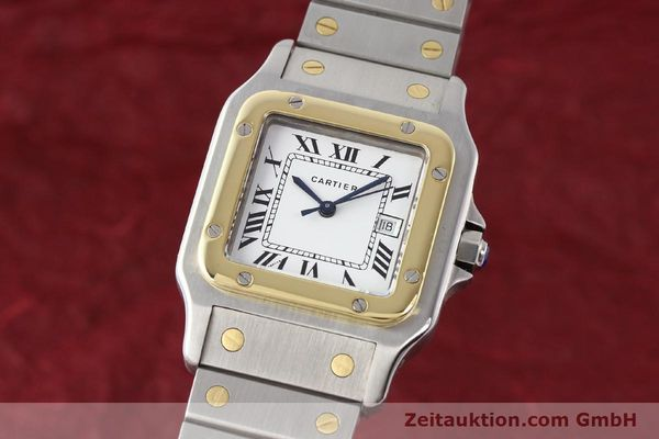 Used luxury watch Cartier Santos steel / gold automatic Kal. ETA 2671  | 140309 04