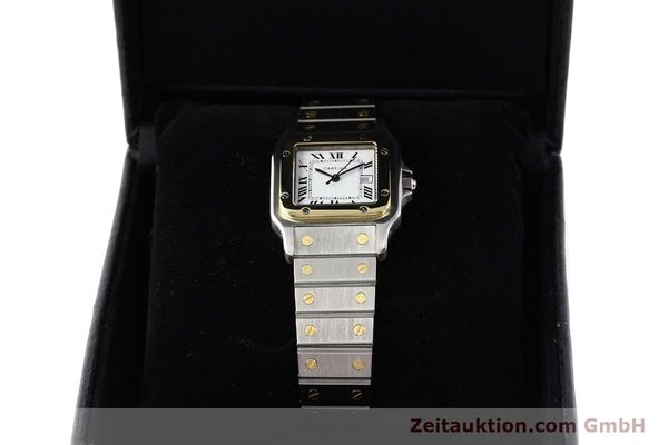 Used luxury watch Cartier Santos steel / gold automatic Kal. ETA 2671  | 140309 07