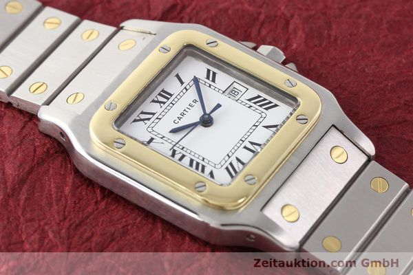 Used luxury watch Cartier Santos steel / gold automatic Kal. ETA 2671  | 140309 13