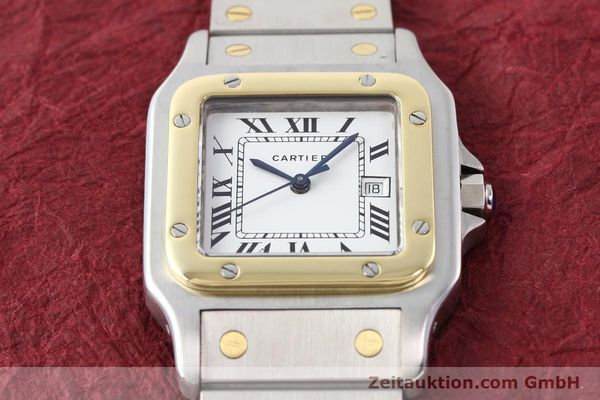 Used luxury watch Cartier Santos steel / gold automatic Kal. ETA 2671  | 140309 14