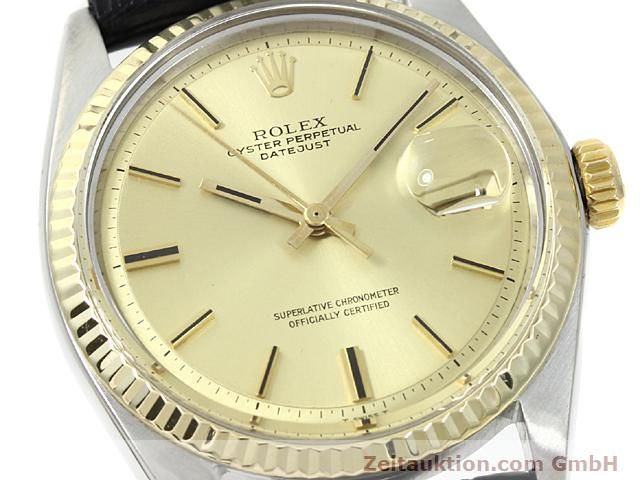 Used luxury watch Rolex Datejust steel / gold automatic Kal. 1570 Ref. 1601  | 140315 02
