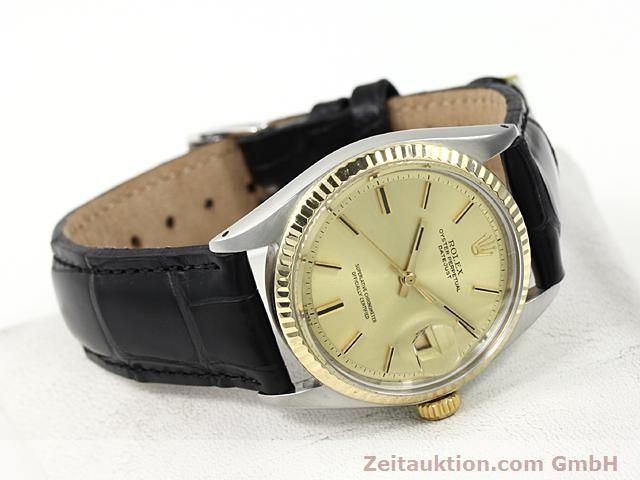 Used luxury watch Rolex Datejust steel / gold automatic Kal. 1570 Ref. 1601  | 140315 03