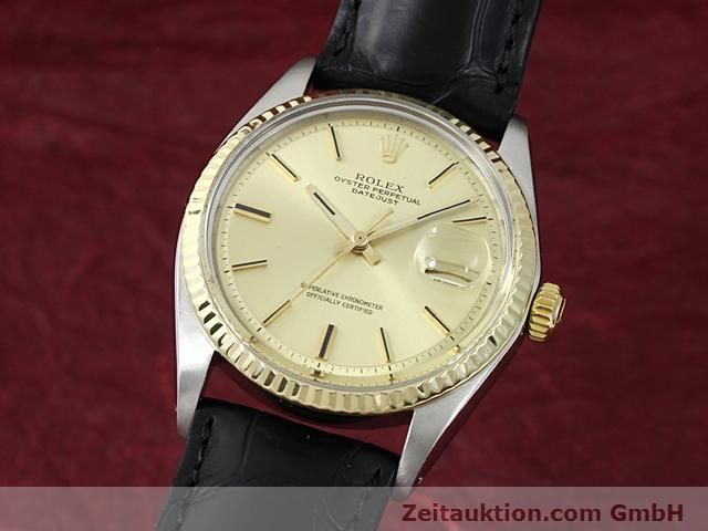Used luxury watch Rolex Datejust steel / gold automatic Kal. 1570 Ref. 1601  | 140315 04