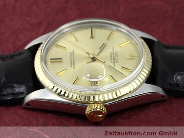 Used luxury watch Rolex Datejust steel / gold automatic Kal. 1570 Ref. 1601  | 140315 05