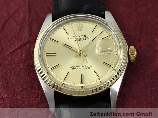 Used luxury watch Rolex Datejust steel / gold automatic Kal. 1570 Ref. 1601  | 140315 13