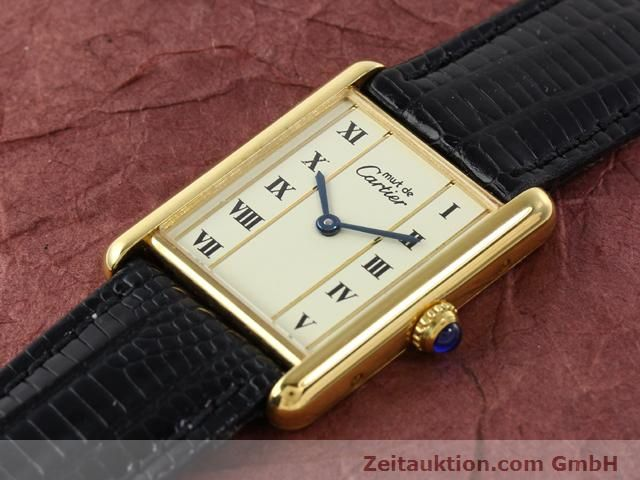 Used luxury watch Cartier Vermeil silver-gilt quartz Kal. 90  | 140318 01