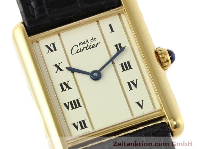Used luxury watch Cartier Vermeil silver-gilt quartz Kal. 90  | 140318 02