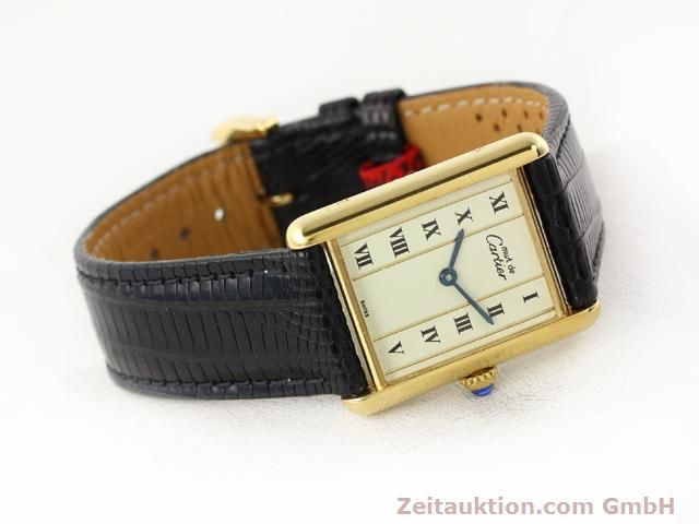 Used luxury watch Cartier Vermeil silver-gilt quartz Kal. 90  | 140318 03