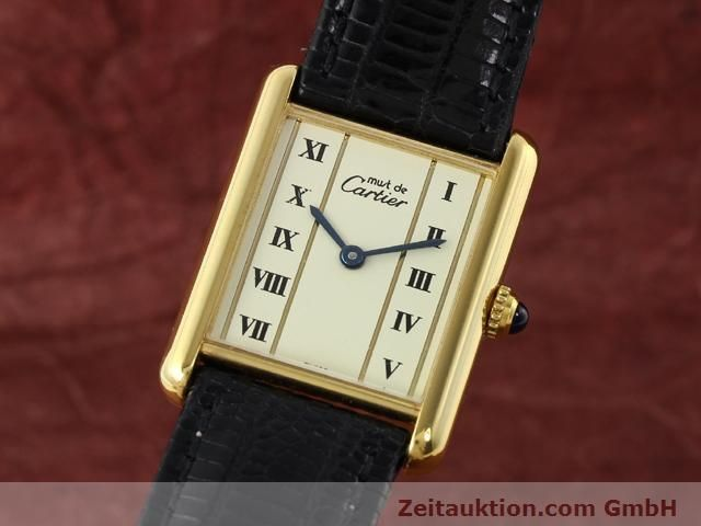 Used luxury watch Cartier Vermeil silver-gilt quartz Kal. 90  | 140318 04