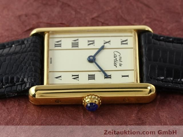 Used luxury watch Cartier Vermeil silver-gilt quartz Kal. 90  | 140318 05