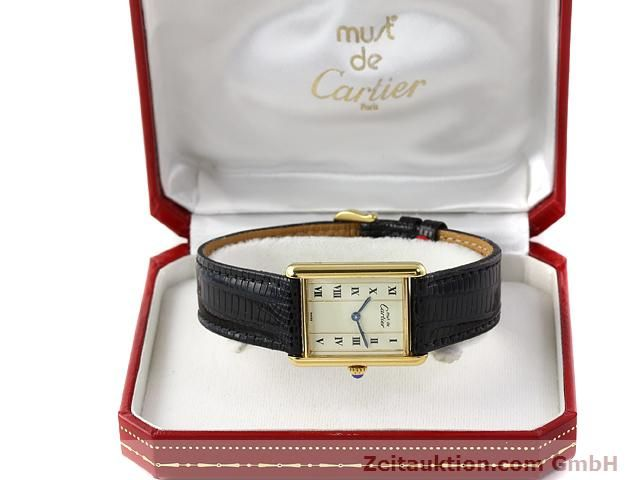 Used luxury watch Cartier Vermeil silver-gilt quartz Kal. 90  | 140318 07