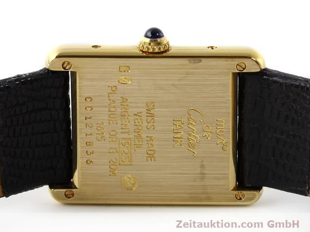 Used luxury watch Cartier Vermeil silver-gilt quartz Kal. 90  | 140318 09