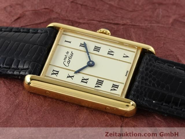 Used luxury watch Cartier Vermeil silver-gilt quartz Kal. 90  | 140318 11