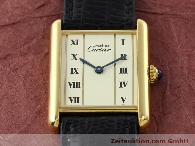 Used luxury watch Cartier Vermeil silver-gilt quartz Kal. 90  | 140318 12