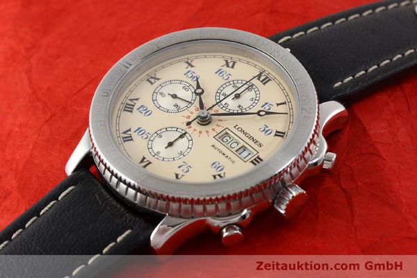Used luxury watch Longines Lindbergh Stundenwinkel chronograph steel automatic Kal. L674.4 ETA 7750 Ref. 674.5232  | 140328 01