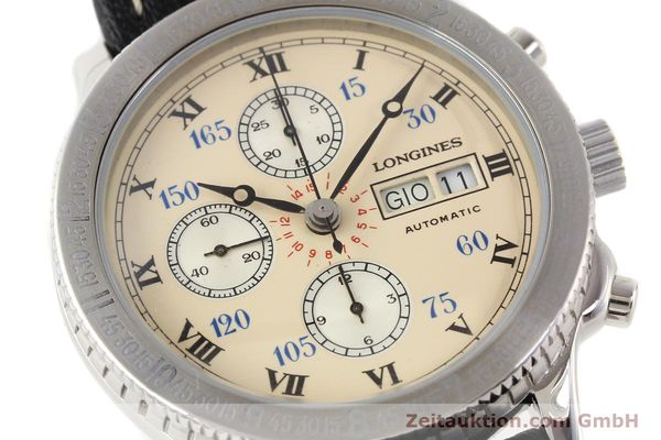 Used luxury watch Longines Lindbergh Stundenwinkel chronograph steel automatic Kal. L674.4 ETA 7750 Ref. 674.5232  | 140328 02